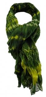 TigerTie Chiffon Schal in grün grau olive gemustert