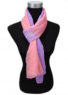 Schal lila rosé rosa silber gestreift Glitzerfäden - Gr. 180 x 50 cm - Halstuch