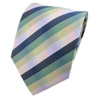 TigerTie Designer Krawatte mehrfarbig grün gestreift - Tie Binder