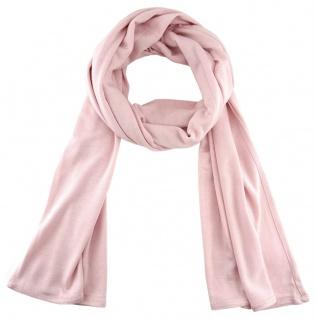 TigerTie - Schal in rosa einfarbig Uni - Größe 180 x 30 cm - 100% Viscose - Vorschau