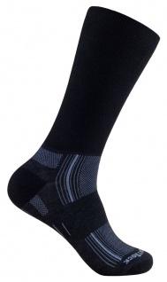 WRIGHTSOCK Wandersocke Silver Stride -anti-blasen- lange schwarze Socken Gr. M