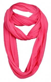 TigerTie Loop Schal in pink einfarbig Uni - Gr. 180 x 40 cm - Rundschal