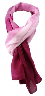 TigerTie Chiffon Schal in rosa magenta weiß unicolor gemustert - Gr. 155 x 50 cm