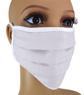 TigerTie Gesichtsmaske mit Nasenbügel Pique hellgrau gemustert mit Schnürbändchen