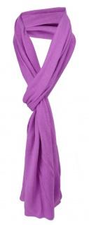 Schal in lila uni einfarbig - Schalgröße 180 x 40 cm