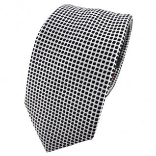 Enrico Sarto Seidenkrawatte schwarz silber gemustert - Krawatte Seide Tie