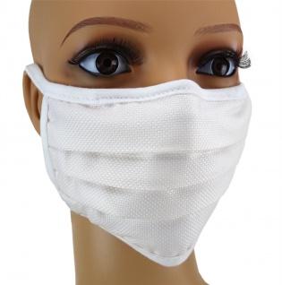TigerTie Gesichtsmaske mit Nasenbügel Pique creme gemustert mit Schnürbändchen