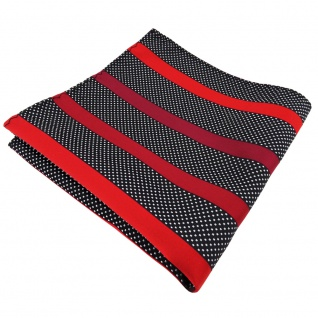 TigerTie Einstecktuch in rot bordeaux schwarz silber gepunktet