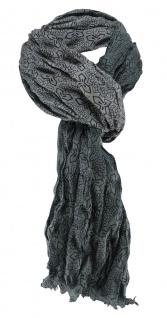 edler Schal in moosgrün schwarz gemustert - Schalgröße 180 x 100 cm