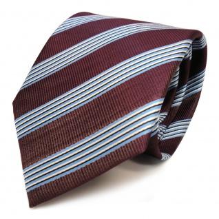 Designer Krawatte - Schlips Binder violett lila blau schwarz weiss gestreift Tie