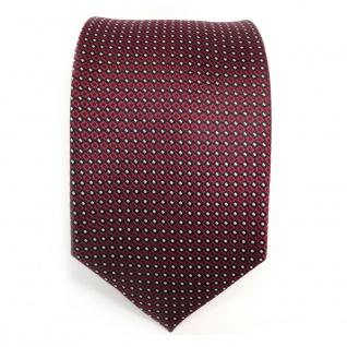 Designer Krawatte Seide rot weinrot silber schwarz gepunktet - Seidenkrawatte - Vorschau 2