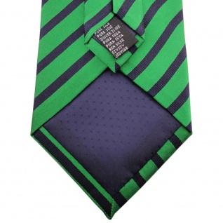TigerTie - Service o. Security Clip Seidenkrawatte smaragdgrün schwarz gestreift - Vorschau 4