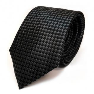 TigerTie Seidenkrawatte anthrazit grau schwarz gemustert - Krawatte Seide Tie