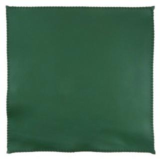 TigerTie Ledereinstecktuch in grün einfarbig Uni - Einstecktuch 100% Lammnappa - Vorschau 2