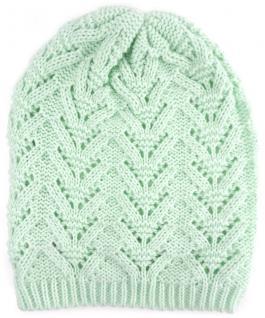 Damen Strickmütze mint Uni - Wintermütze - Mütze Größe (dehnbar zwischen M-L)