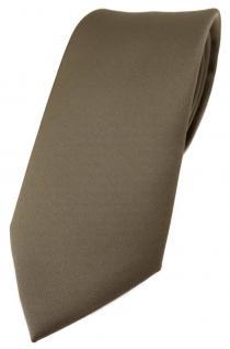 TigerTie Designer Krawatte in graubraun einfarbig Uni - Tie Schlips