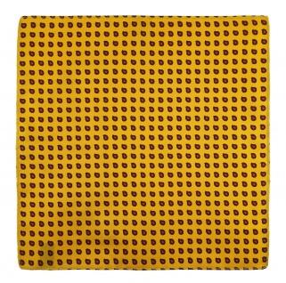 TigerTie Designer Seideneinstecktuch in gelb rot schwarz Paisley gemustert