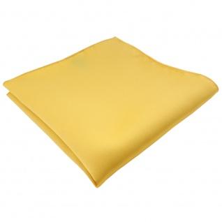 schönes TigerTie Satin Einstecktuch in gelb goldgelb Uni - Tuch 100% Polyester