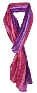 gecrashter Chiffon Schal in lila violett rosa gestreift - 180 x 50 cm
