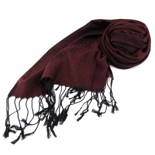 Schal braun rotbraun dunkelbraun schwarz gemustert Gr. 175x68 cm - 100% Viskose