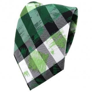TigerTie Designer Krawatte in grün grau silber schwarz gestreift - Tie Binder