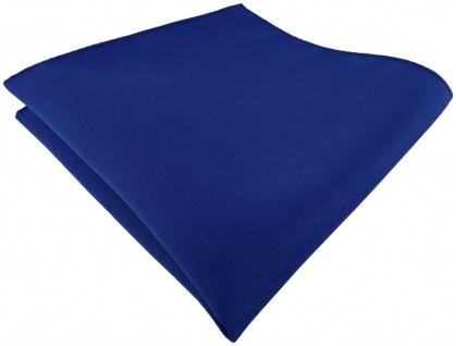 TigerTie Satin Einstecktuch in dunkelblau einfarbig Uni - Größe 26 x 26 cm