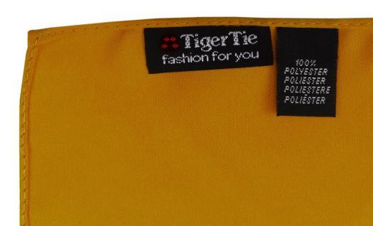 TigerTie Satin Einstecktuch in gelborange einfarbig Uni - Größe 26 x 26 cm - Vorschau 2