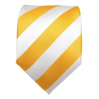 TigerTie Designer Krawatte - Schlips Binder gelb goldgelb weiß gestreift - Tie - Vorschau 3