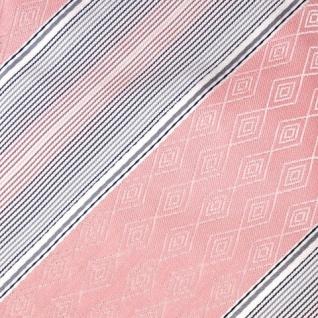Mexx Seidenkrawatte rosa grau silber gestreift - Krawatte Seide Tie - Vorschau 4