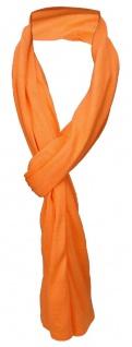 TigerTie Schal in orange einfarbig - Schalgröße 180 x 40 cm