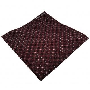 gewebtes TigerTie Einstecktuch bordeaux silber schwarz gemustert - Tuch Seide