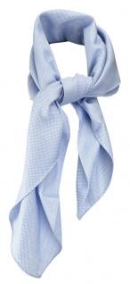 TigerTie Nickituch Kopftuch Halstuch Pique blau uni gemustert - Größe 70 x 70 cm