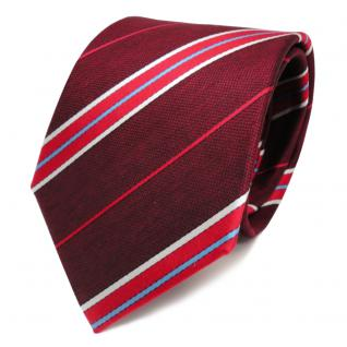 Designer Krawatte rot weinrot blau weiss gestreift - Krawatte Tie Binder