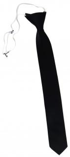 XXL TigerTie Security Sicherheits Krawatte in schwarz einfarbig Uni - Vorschau 1