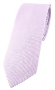 schmale TigerTie Krawatte in lila Uni - 100% Baumwolle - Krawattenbreite 6 cm