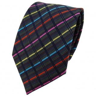 TigerTie Designer Krawatte in gold pink türkis rot schwarz gestreift - Binder