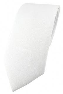 TigerTie Designer Krawatte schneeweiss Uni mit aufgerauhter Oberfläche - Eisfond