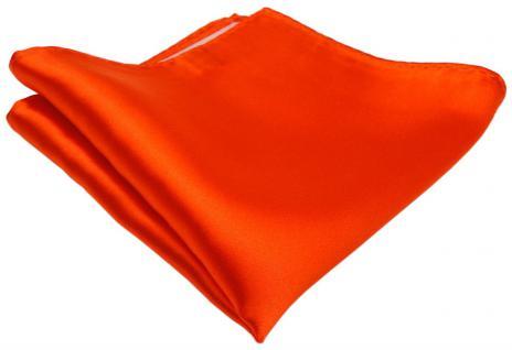 gewebtes TigerTie Designer Satin Seideneinstecktuch in orange leuchtorange Uni
