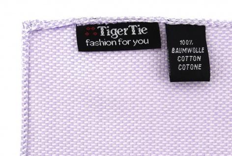 TigerTie Einstecktuch 100% Baumwolle - Pique in flieder gemustert - 30 x 30 cm - Vorschau 2