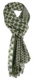 gecrashter Schal in tannengrün grün grau gemustert - Schal Größe 180 x 100 cm