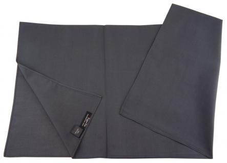 TigerTie Nickituch Halstuch in anthrazit Uni - Größe 60 x 60 cm - 100% Baumwolle