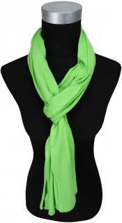 TigerTie Schal in grün uni einfarbig - Schalgröße 180 x 40 cm
