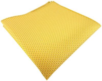 TigerTie Seideneinstecktuch in gelb dahliengelb silber gemustert -100% Seide