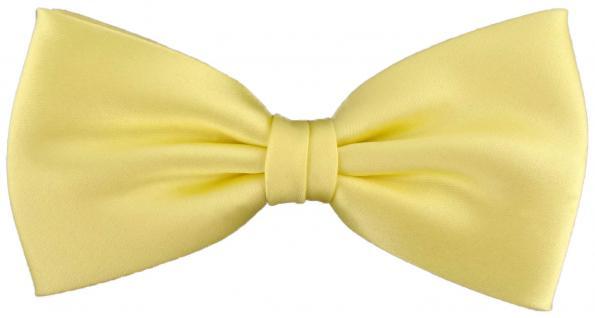 vorgebundene TigerTie Satin Fliege in gelb blassgelb Uni einfarbig + Geschenkbox
