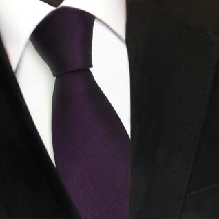 TigerTie Satin Seidenkrawatte lila dunkellila schwarzlila Uni - Krawatte Seide