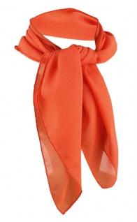 TigerTie Damen Chiffon Nickituch orange Gr. 50 cm x 50 cm - Tuch Halstuch Schal