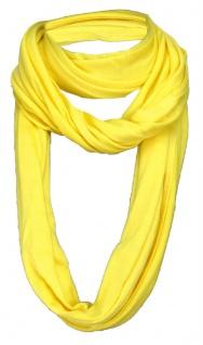 TigerTie Loop Schal in gelb einfarbig Uni - Gr. 180 x 40 cm - Rundschal