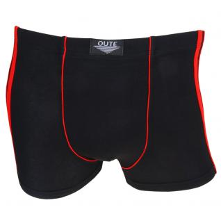 Boxershorts Pants Retro Shorts Unterhose schwarz-rot Baumwolle Gr. L