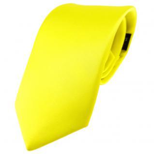 Modische TigerTie Satin Seidenkrawatte in gelb zitronengelb einfarbig Uni