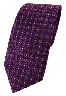 TigerTie Designer Krawatte in magenta orange silber schwarz gemustert
